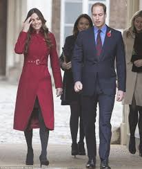 kate middleton recycles lk bennett red coat in anglesey with