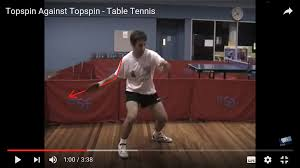 Topspin Table Tennis by Topspin Stroke Arm Straight