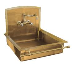 Italian Brass Sink With Towel Bar By Restart Of Florence - Italian kitchen sinks