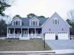 Cape Cod Modular Floor Plans by Cape Cod Style Home With Farmers Porch Two Car Garage And Large