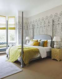 Grey And White Bedroom Wallpaper Grey Wallpaper For Bedroom Home Design Ideas