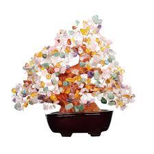 couleur feng shui feng shui multi couleur joyau naturel pierre d u0027argent arbre table