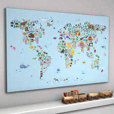 Kids World Map Animal World Map Print By Artpause Notonthehighstreet Com
