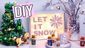 Christmas Decorations Diy by Diy Winter Christmas Decorations Light Up Sign Edible Tree