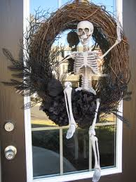halloween skeletons decorations the chic technique halloween wreath u2026 pinteres u2026