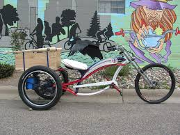 let us not forget the chopper trike behind bars