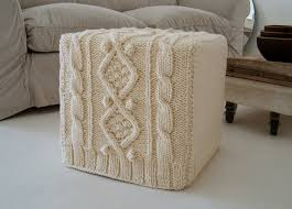 cable knit ottoman house ideas pinterest cable knitting