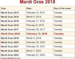 when is mardi gras 2018 u0026 2019 dates of mardi gras