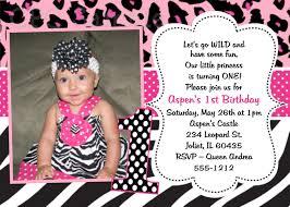 1st birthday princess invitation pink and black zebra print birthday party invitations