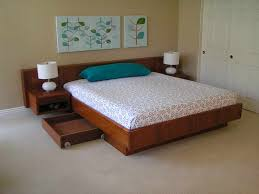 bedroom floating platform beds with pillow blue the simplicity and