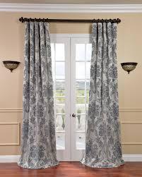 exclusive fabrics magdelena silver blue faux silk jacquard