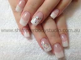 gel nails french nails glitter nail art nails french with a