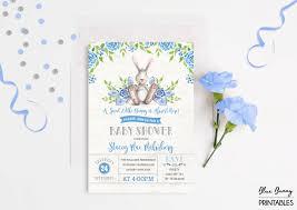 bunny baby shower invitation rabbit baby shower invite baby