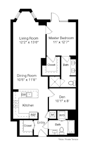 2 Bedroom 1 Bath Floor Plans Floor Plans Senate Square Apartments The Bozzuto Group Bozzuto