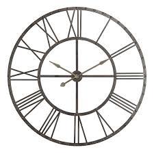 furniture upton oversized wall clock in black theme