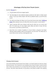 blu ray home theater system with wireless rear speakers advantages of blu ray home theater system