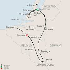 Luxembourg Map Map Holland Luxembourg U0026 Belgium 2017