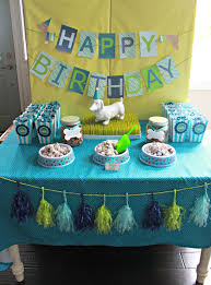 1st Birthday Decoration Ideas At Home It U0027s A Pawty Puppy Party First Birthday Part 1 Delightfully Noted