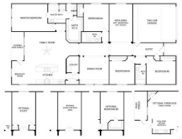 Ranch House Plan by 6 Bedroom Ranch House Plans Webshoz Com
