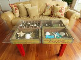 Repurposed Coffee Table by How To Make A Table Using Old Wood Soda Crates Diy