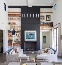 Custom Bookshelves Cost by Custom Built In Bookshelves With Rolling Ladders Custom Home