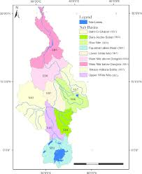 Hydrology Map Upstream U2013downstream Linkages Of Hydrological Processes In The Nile