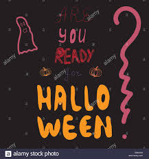 halloween vector art are you ready for halloween party invitation vector illustration