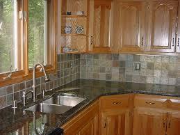ceramic kitchen countertop backsplash black color tile 5856