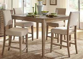 rustic casual 5 piece gathering table set by liberty furniture