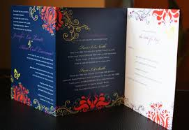 folded invitation tri fold wedding invitations card design wedding decor theme