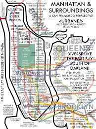 Map New York City by Map Of New York City From A San Francisco Perspective
