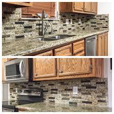 kitchen backsplash a custom color blend of recycled granite split