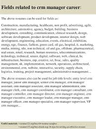 Sample Resume For Senior Manager by Top 8 Crm Manager Resume Samples