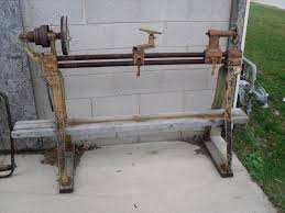 Antique Woodworking Bench For Sale by Antique Wood Lathe E H Sheldon Rare Us 225 00 Hustisford