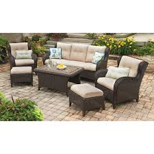 Lazy Boy Furniture Outlet Exterior Unique Beige Wicker Loveseat With White Cushions And