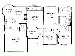 2800 Square Foot House Plans Eplans Ranch House Plan Three Bedroom Ranch 1957 Square Feet