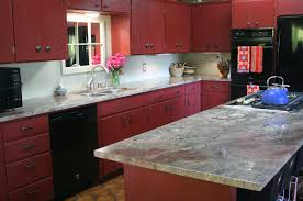 beautiful red painted kitchen cabinets images amazing design