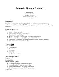 Imagerackus Surprising Bartender Resume Example Awesome Sample Bartender Resume To Use With Inspiring Bartender Resume Example