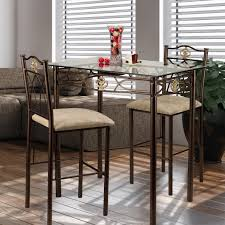 Modern Kitchen Chairs Leather Kitchen Narrow Glass Top Counter Height Pub Table And Two