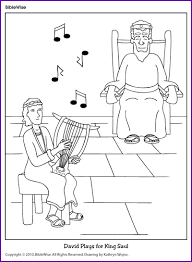 harp coloring page coloring david plays for king saul kids korner biblewise