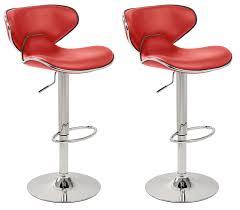 leather saddle bar stools set of 2 red u0026 chrome bahama kitchen bar stools pair amazon
