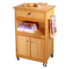 Kitchen Cart With Storage by Butcher Block Storage Cart With Drawer Open Shelf