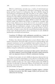 9 conclusions and recommendations mathematics learning in early