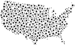 Unite States Map by Clipart United States Map Stars