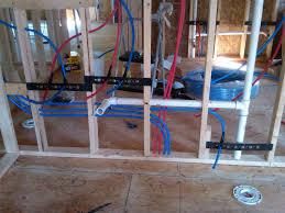 Plumbing Rough Plumbing Pex Water Lines Install For Toilet U0026 Sinks U0026 Drain Pipe
