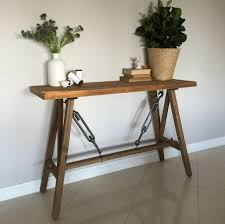 French Home Decor Catalog by Rustic Timber Console Hall Table Stand Shelf Hamptons French
