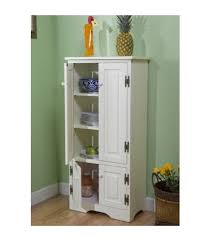 Kitchen Cabinet With Hutch Amazon Com Tall Kitchen Cabinet White Has Two Fixed And Two