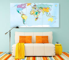 World Map Canvas by Large Detailed Map Of The World Geography World Map Push Pin
