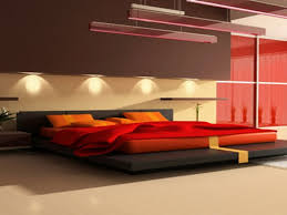 bedroom compact decorating ideas brown and red linoleum expansive