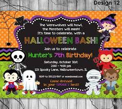 personalized halloween totes halloween birthday invitation printable kids halloween party
